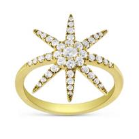 18K_Yellow_Gold_Diamond_Star_Ring