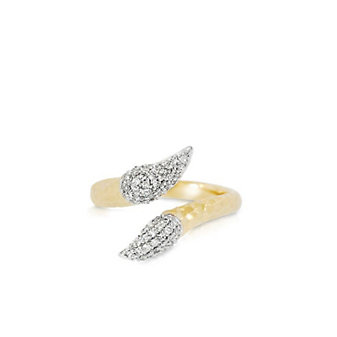 Phillips House 14K Yellow Gold Round Diamond Perennial Crossover Ring