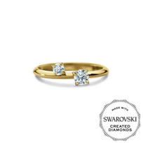 Diama_18K_Yellow_Gold_Intimate_Swarovski_Created_Diamond_Two_Stone_Ring