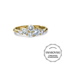 Diama_18K_Yellow_Gold_Glacial_Swarovski_Created_Diamond_Cluster_Ring