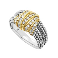 Lagos_Sterling_Silver_&_Yellow_Gold_Diamond_Embrace_Caviar_Beaded_Ring
