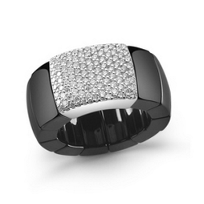 Roberto_Demeglio_18K_White_Gold_and_Black_Ceramic_Diamond_Stretch_Ring