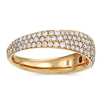 Roberto Coin 18K Rose Gold Scalare Diamond Ring, 0.67cttw