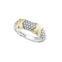 Lagos_Sterling_Silver_&_18K_Yellow_Gold_Diamond_Lux_Beaded_Ring,_Wide