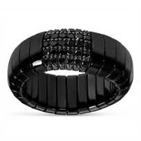 Roberto_Demeglio_18K_White_Gold_Black_Ceramic_Round_Black_Diamond_Stretch_Ring