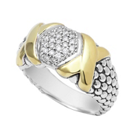 Lagos_Sterling_Silver_&_18K_Yellow_Gold_Diamond_Lux_Caviar_Beaded_Ring