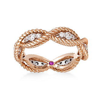 Roberto Coin 18K Rose Gold Barocco Diamond Ring
