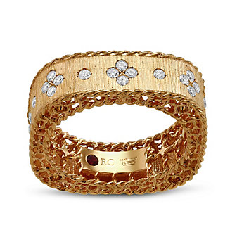 Roberto Coin 18K Rose Gold Princess Collection Diamond Band