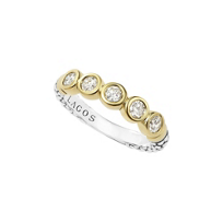 Lagos_Sterling_Silver&_18K_Yellow_Gold_Diamond_Stacking_Ring,_0.50cttw