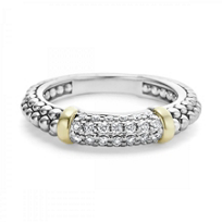 Lagos_Sterling_Silver_Caviar_And_Diamond_Stacking_Ring