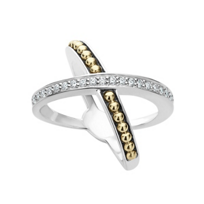 Lagos_Sterling_Silver_&_18K_Yellow_Gold_Infinity_Diamond_X_Ring