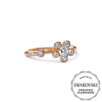 Diama_18K_Rose_Gold_Bloom_Swarovski_Created_Diamond_Open_Ring