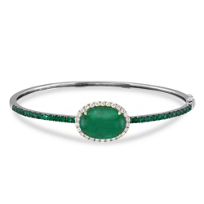 18K_Yellow_and_White_Emerald_and_Diamond_Bangle_Bracelet