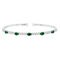 18k_white_gold_oval_emerald_&_diamond_bangle_bracelet