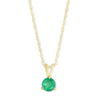 14K_Yellow_Gold_Round_Emerald_Solitaire_Pendant,_5mm