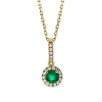14K_Yellow_Gold_Emerald_and_Round_Diamond_Halo_Pendant