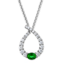 14K_White_Gold_Emerald_&_Diamond_Teardrop_Pendant,_0.49cttw