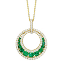 14K_Yellow_Gold_Emerald_and_Diamond_Circle_Pendant