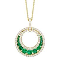 14K_Yellow_Gold_Emerald_and_Diamond_Circle_Pendant