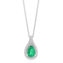 18K_White_Gold_Pear_Shape_Emerald_and_Diamond_Halo_Pendant