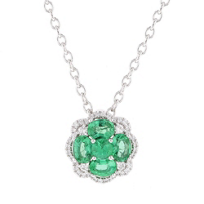 14k_white_gold_emerald_&_diamond_flower_pendant_