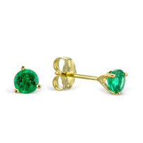 14K_Yellow_Gold_Round_Emerald_Stud_Earrings,_4mm