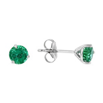 14k_white_gold_round_emerald_stud_earrings