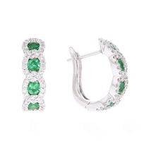 14k_white_gold_emerald_&_diamond_hoop_earrings