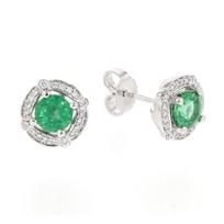 14k_white_gold_emerald_&_diamond_halo_stud_earrings