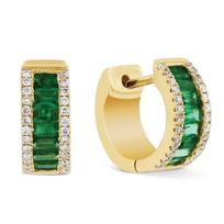 14k_yellow_gold_diamond_and_emerald_baguette_huggy_hoop_earrings