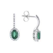 14k_white_gold_oval_emerald_&_diamond_halo_post_drop_earrings