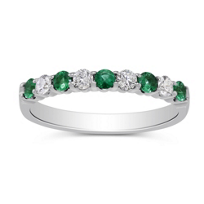 14K_White_Gold_Round_Emerald_and_Diamond_Ring