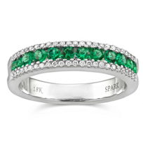 14K_White_Gold_Emerald_and_Diamond_Ring