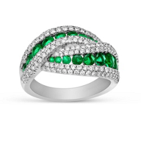 14K_White_Gold_Emerald_and_Diamond_Crossover_Ring
