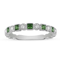 14K_White_Gold_Emerald_and_Diamond_Milgrain_Geometric_Ring