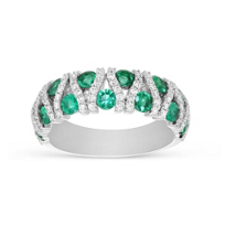 14K_White_Gold_Emerald_and_Diamond_Bar_Ring