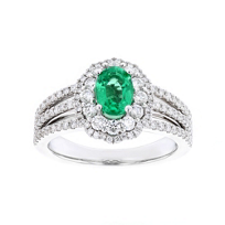 14k_white_gold_oval_emerald_&_diamond_double_scalloped_halo_ring_with_3_row_shank