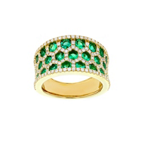 14k_yellow_gold_emerald_&_diamond_honeycomb_3_row_ring