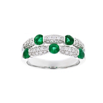 14k_white_gold_round_emerald_&_diamond_2_row_station_ring