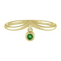 14k_yellow_gold_emerald_bezel_set_dangle_station_curved_ring