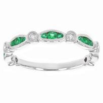 14k_white_gold_emerald_&_diamond_navette_milgrain_station_ring