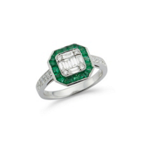 18k_white_gold_calibre_cut_emerald_&_diamond_milgrain_ring_