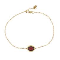 "14k_yellow_gold_oval_garnet_rope_bezel_set_bracelet,_7.5"""