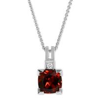 14K_White_Gold_Cushion_Garnet_and_Round_Diamond_Pendant