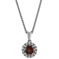 14K_White_Gold_Round_Garnet_and_Diamond_Halo_Pendant
