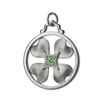 Monica Rich Kosann Sterling Silver Lucky Charms Clover Charm