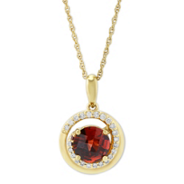14K_Yellow_Gold_Garnet_&_Round_Diamond_Swirl_Pendant