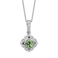 14K_White_Gold_Demantoid_Garnet_and_Round_Diamond_Pendant