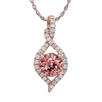 14K_Rose_Gold_Diamond_Halo_&_Pink_Garnet_Pendant__