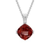 14K_White_Gold_Checkerboard_Cushion_Garnet_Pendant,_18""